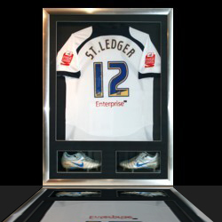 example of sports shirt framed